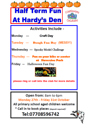 Hardy's Den Oct 14